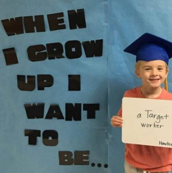 Graduation - WHEN GROW UP I WANT Target worker TO BE... Hawki