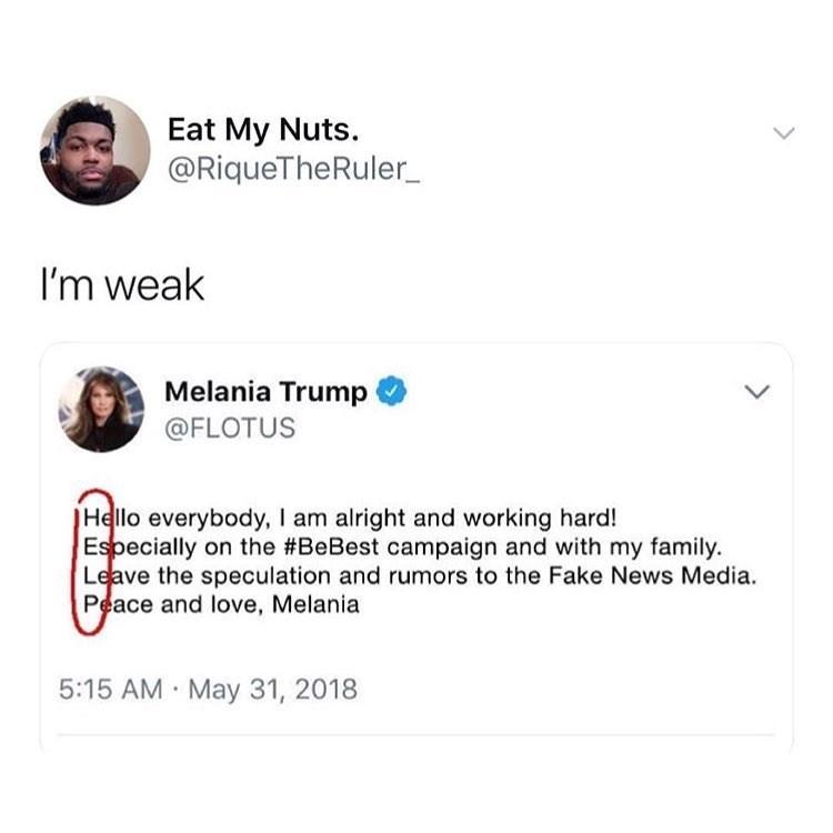 fu nny meme about melania trump secretly asking twitter for help.