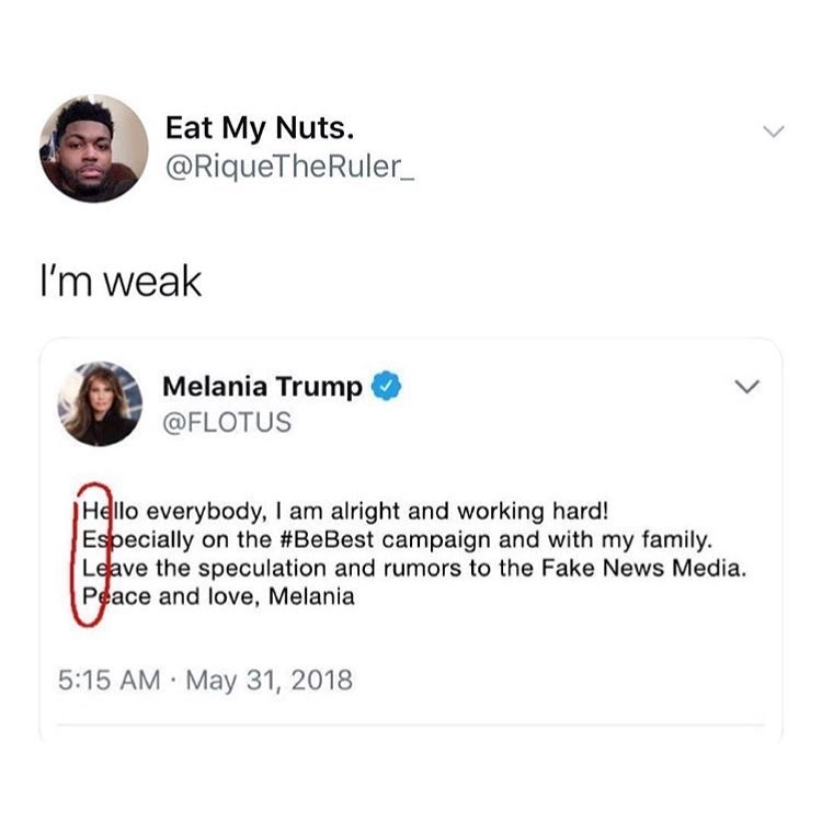 fu nny meme about melania trump secretly asking twitter for help.
