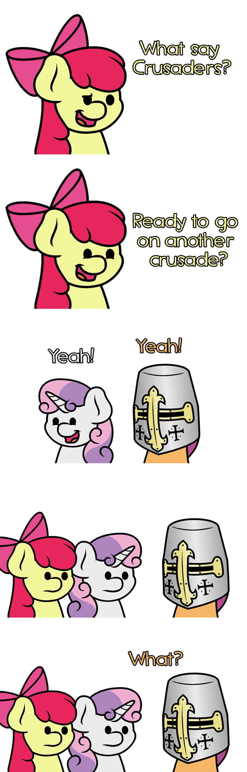 Sweetie Belle apple bloom jandamz puns deus vult comic Scootaloo - 9172043520