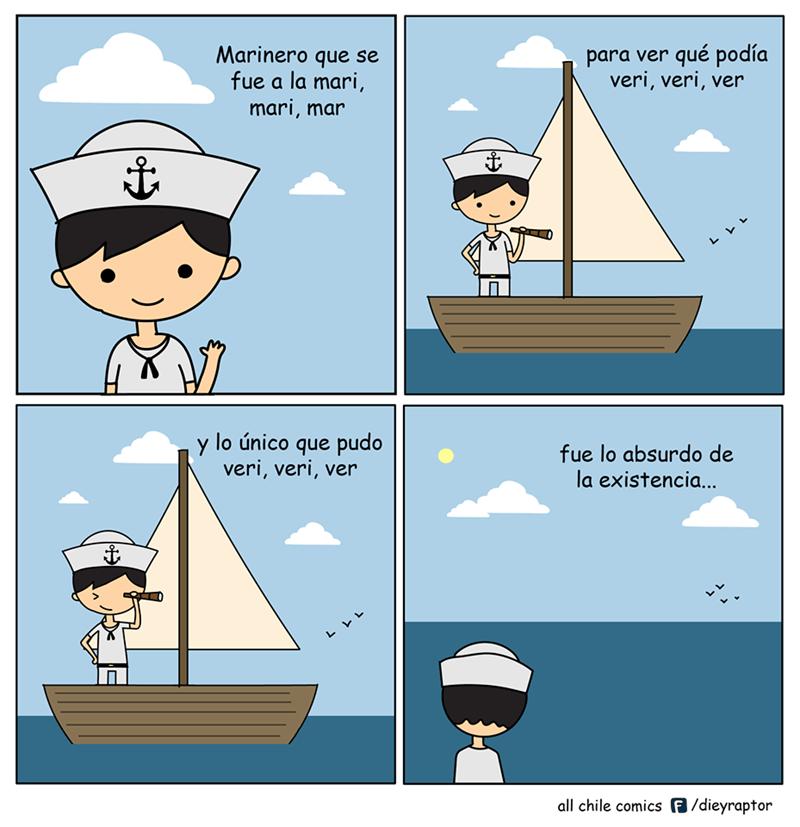 cuando un marinero ve la mar y no entiende su existencia