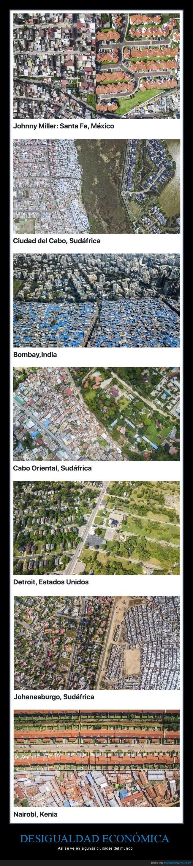 serie de fotos que muestran la desigualdad