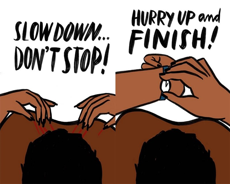 Font - HURRY UP and FINISH! SLOWDOW. DON'TSTOP! DON'T STOPI