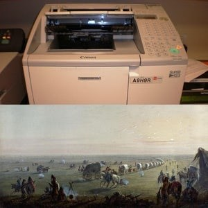 """""""The fax machine was invented the same year the first wagon crossed the Oregon Trail"""""""