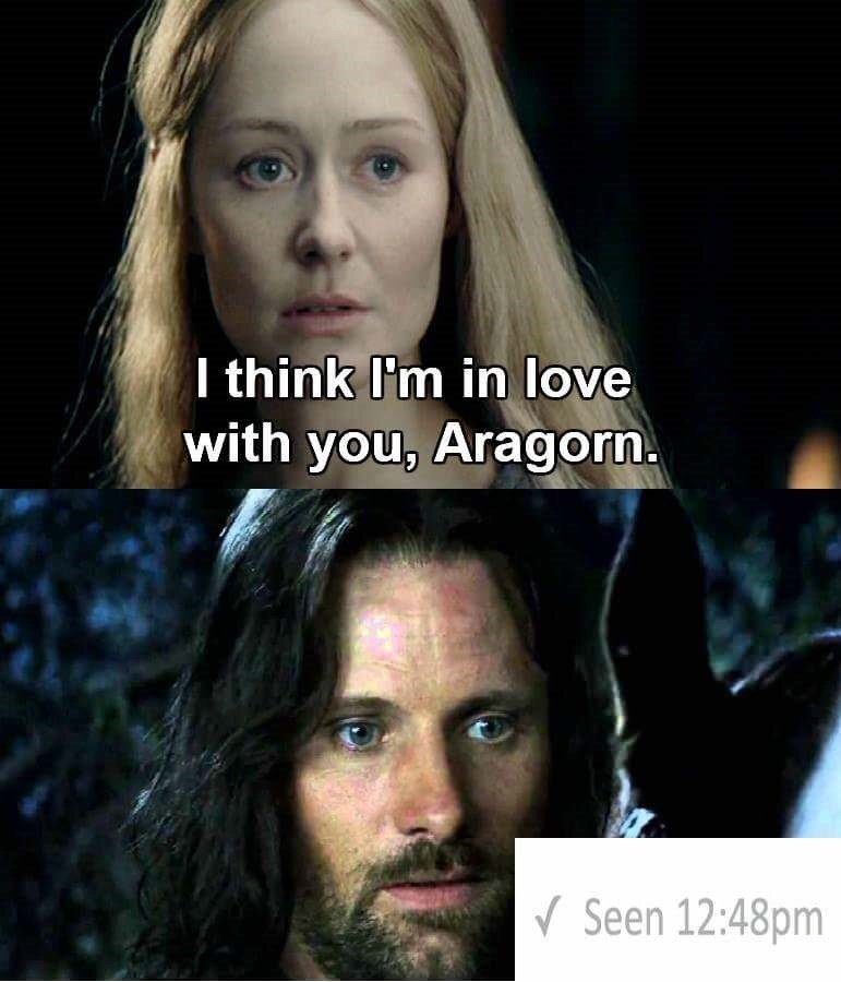 Hair - I think I'm in love with you, Aragorn Seen 12:48pm