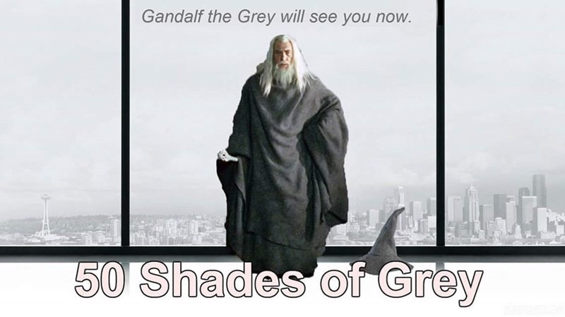 Outerwear - Gandalf the Grey will see you now. 50 Shades of Grey