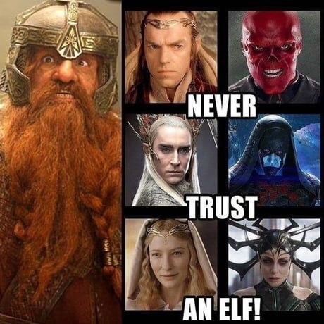 Facial hair - NEVER TRUST AN ELF!