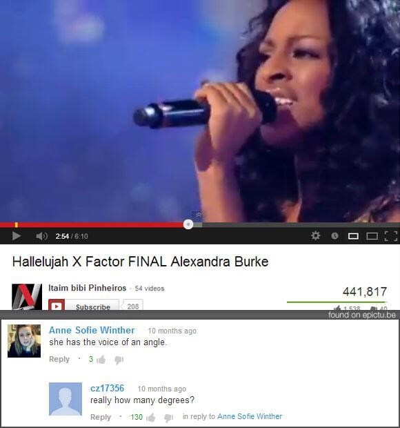 Music artist - O D 254 6:10 Hallelujah X Factor FINAL Alexandra Burke Itaim bibi Pinheiros 54 videos 441,817 208 Subscribe 1.538 40 found on epictu.be Anne Sofie Winther she has the voice of an angle 10 months ago Reply cz17356 10 months ago really how many degrees? Reply in reply to Anne Sofie Winther 130