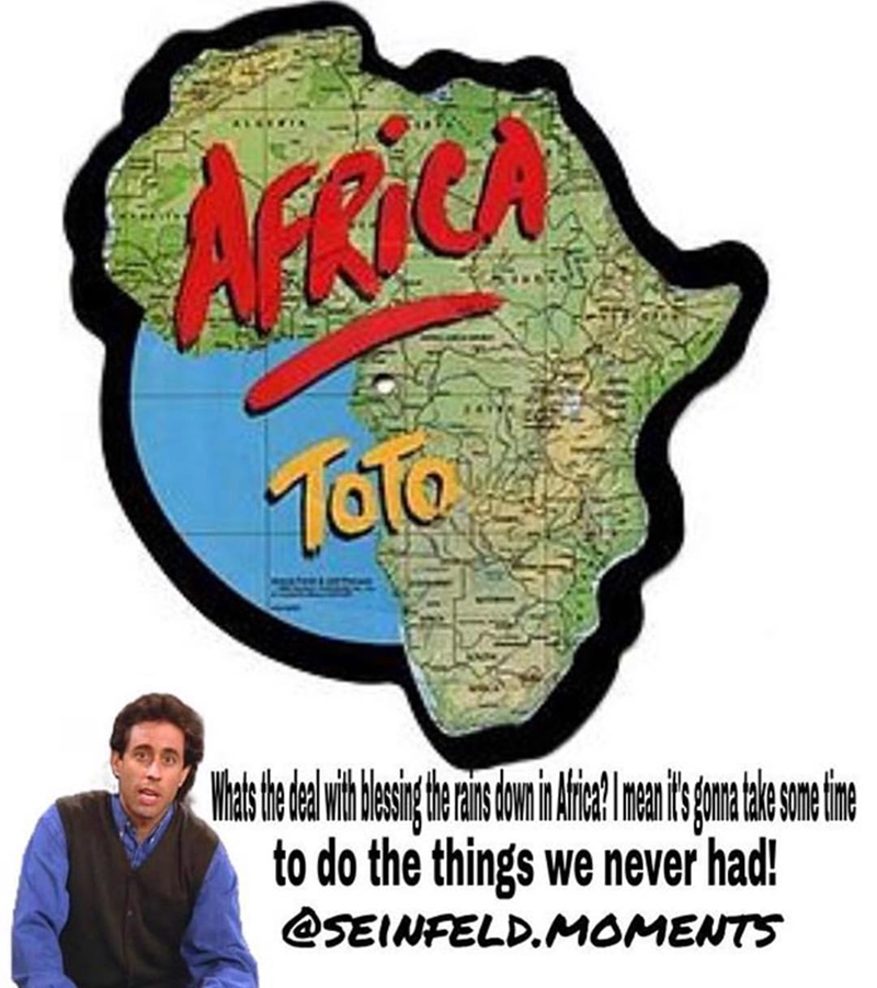 cut out of map of africa and jerry sienfeld africa toto meme