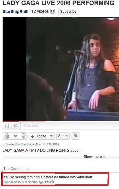 Text - LADY GAGA LIVE 2006 PERFORMING StarShipRnB 12 videos Subscribe 0:19/4:16 Like Share Add to Uploaded by StarShipRnB on Oct 9, 2009 LADY GAGA AT MTV BOILING POINTS 2005 Show more Top Comments it's like seeing tom riddle before he turned into voldemort poonalicious69 8 months ago 136