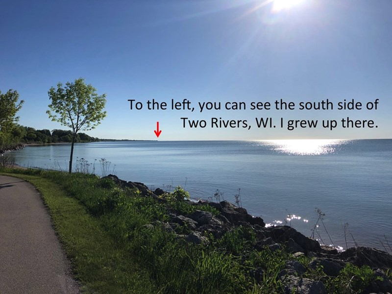 Sky - To the left, you can see the south side of Two Rivers, WI. I grew up there.