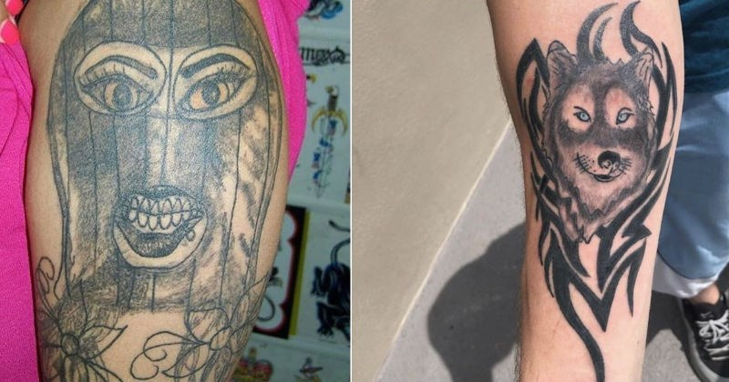 A collection of timeless tattoos that people likely regret getting in the first place.
