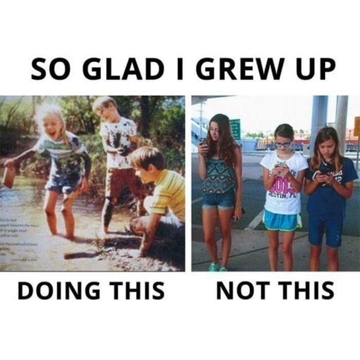 People - SO GLAD I GREW UP NOT THIS DOING THIS