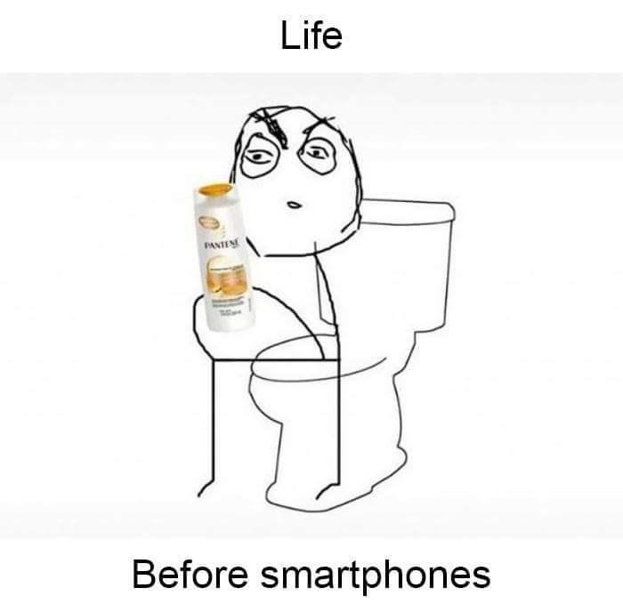 Cartoon - Life PANTEN Before smartphones