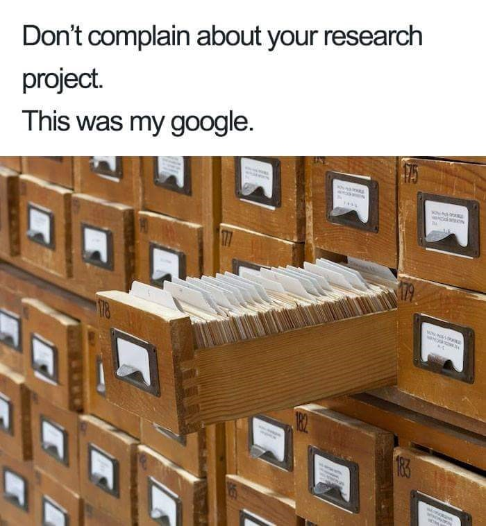 Furniture - Don't complain about your research project. This was my google 177 33