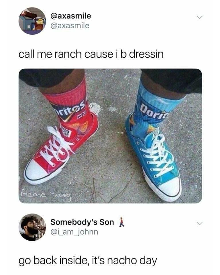 funny nacho puns tweet.