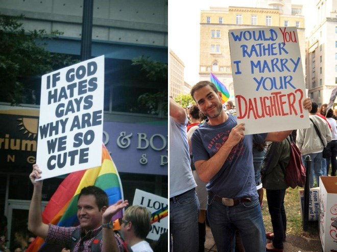 Protest - WOULD YOU RATHER I MARRY YOUR IF GOD HATES GAYS WHY ARE DALIGHIER? rium WE SO &BO N G CUTE I LOW N From