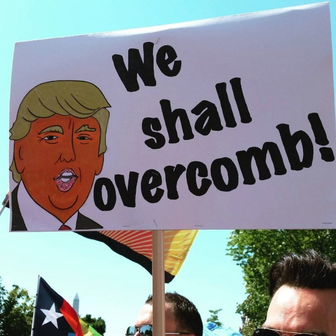Protest - We shall overcomb!