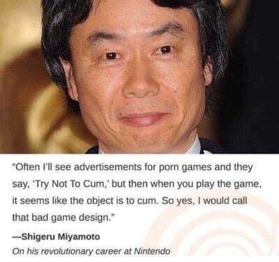 video game producer from Nintendo critiquing porn games