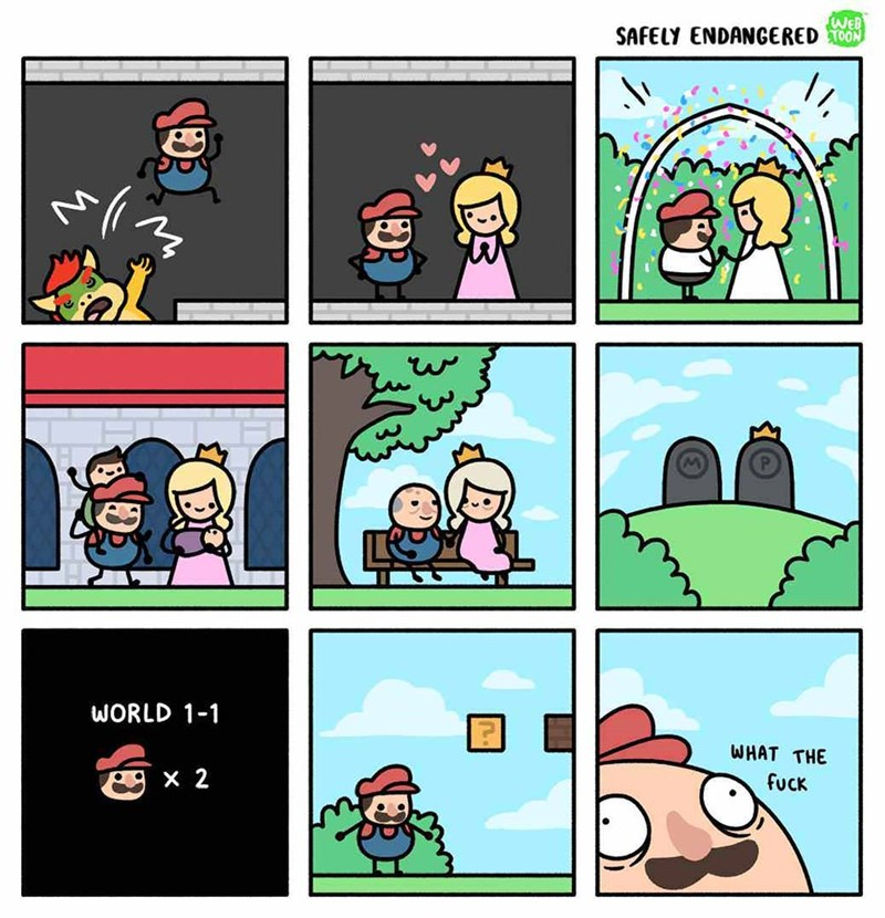 funny comic - Cartoon - WEB SAFELY ENDANGERED0ON WORLD 1-1 WHAT THE X 2 fuck