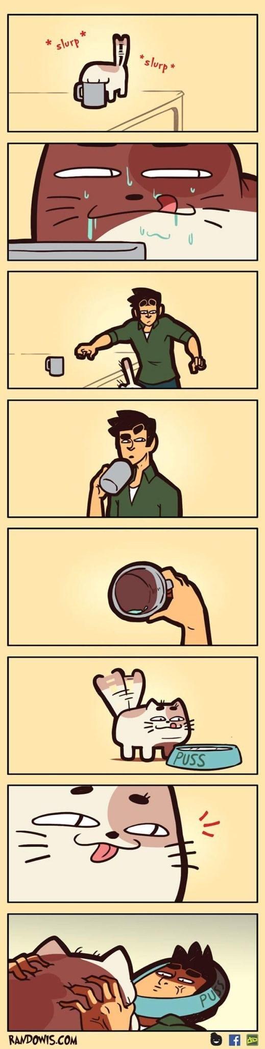 funny comic - Cartoon - slurp slurp* JPUSS RAMDOWIS.COM