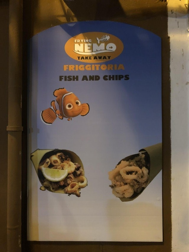 Snack - FRYING NEMO TAKE AWAY FRIGGITORIA FISH AND CHIPS