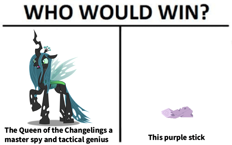 who would win twilight sparkle the mean six Memes chrysalis changelings - 9175631616