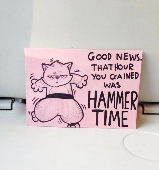 Cartoon - GOOD NEWS THATHOUR You CrAINED WAS HAMMER TIME