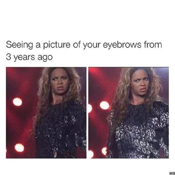 Hair - Seeing a picture of your eyebrows from 3 years ago men
