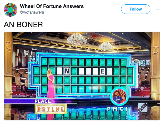 Technology - Wheel Of Fortune Answers @wofanswers Follow AN BONER E PLACE RSTLNE PM CI GSN