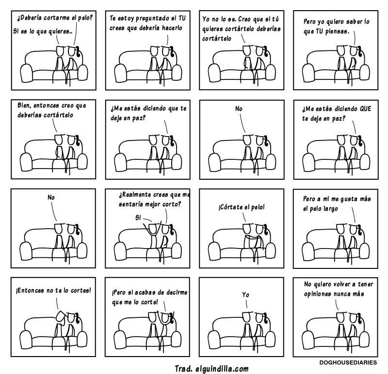 cuando discutes con una mujer es imposible