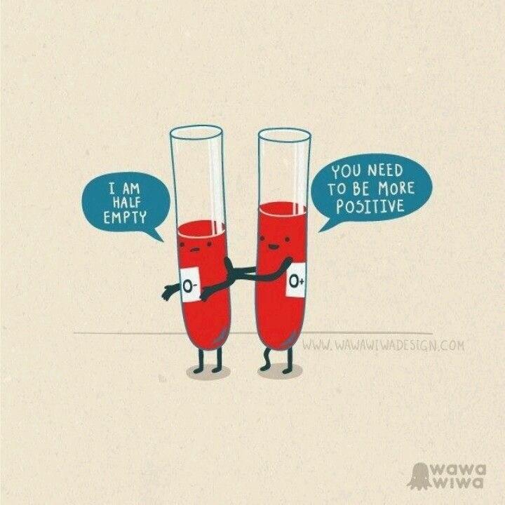 science pun - Illustration - γου ΝΕΕD TO BE MORE POSITIVE I AM HALF EMPTY www.WAWAWIWADESIGN.COM wawa AWIWO