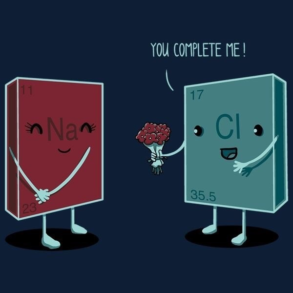 science pun - Cartoon - YOU COMPLETE ME! 17 Nan CI 35.5 23