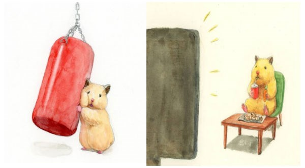 cute animal art hamster animals - 9176325