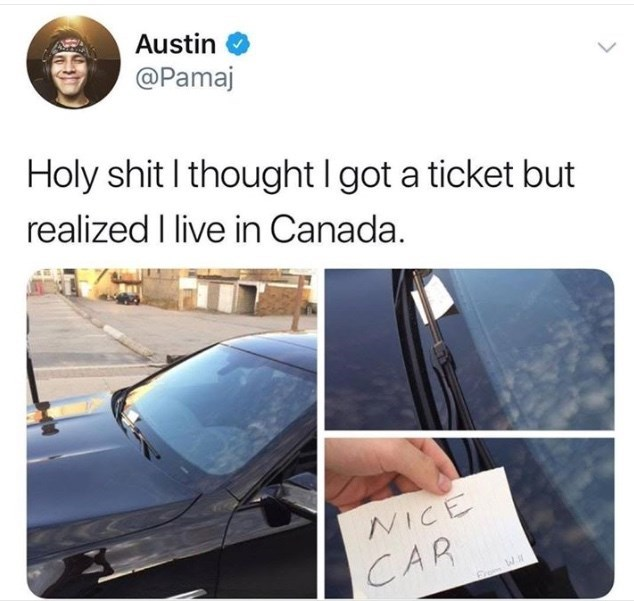 Vehicle door - Austin @Pamaj Holy shit I thought I got a ticket but realized I live in Canada. NICE CAR Erom W