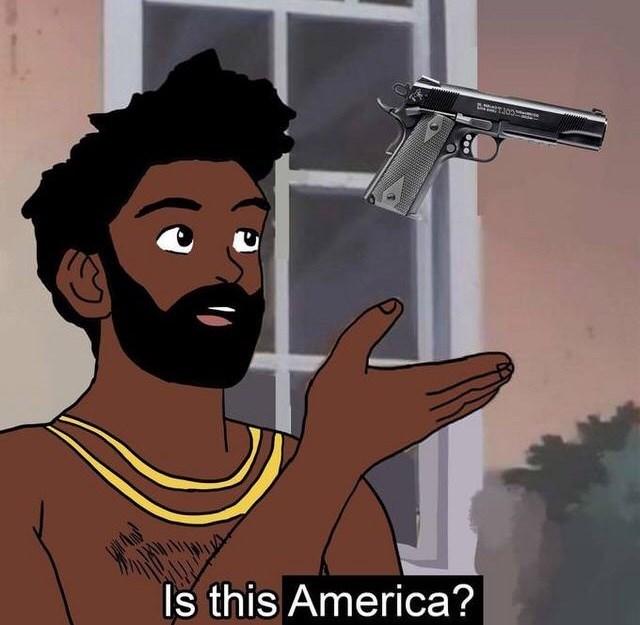 Cartoon - Is this America?