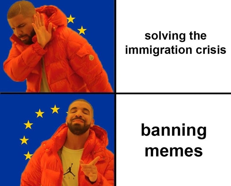 Human - solving the immigration crisis banning memes