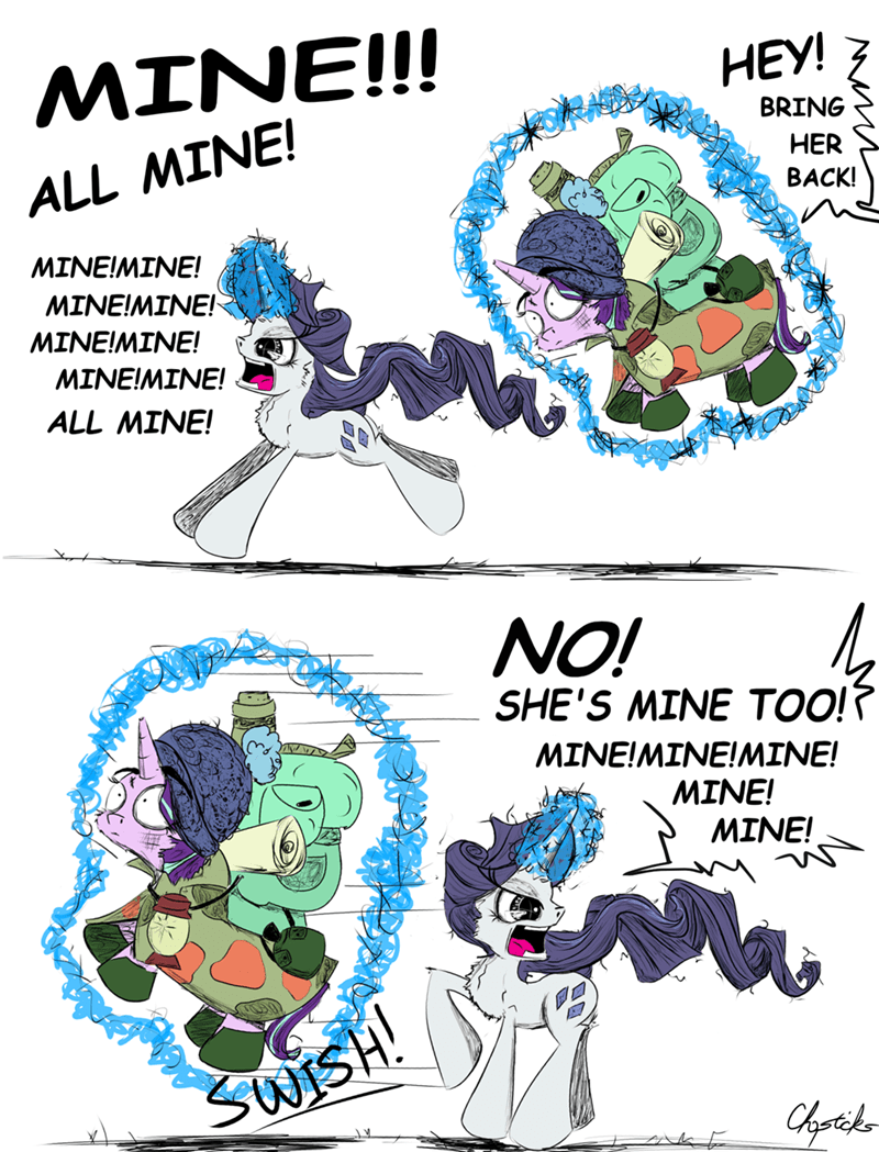 chopsticks pony starlight glimmer the mean six rarity comic - 9176727040