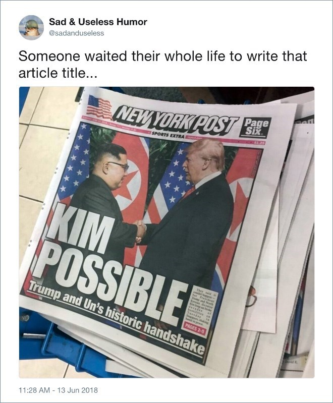 Trump meme making pun of meeting with Kim Jong un