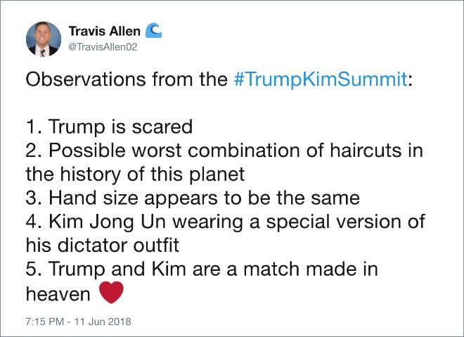 Trump meme about being a good match to Kim Jong un