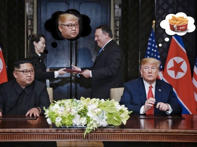 Trump meme about his and Kim Jong un's secret thoughts