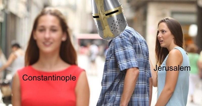 dank memes-distracted boyfriend Constantinople