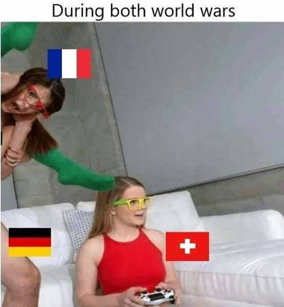 dank memes-three countries chilling during ww1 and ww11