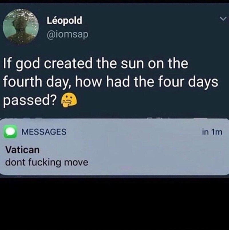 Funny meme about the vatican.