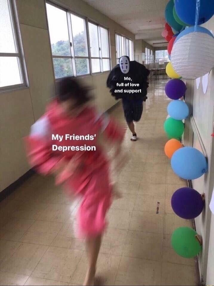 Balloon - Me, full of love and support My Friends' Depression