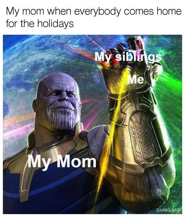 Fictional character - My mom when everybody comes home for the holidays My siblngs Me My Mom DANKEAND
