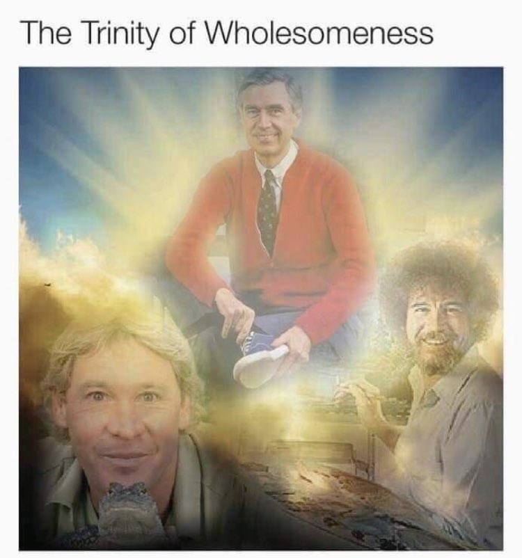 Photo caption - The Trinity of Wholesomeness