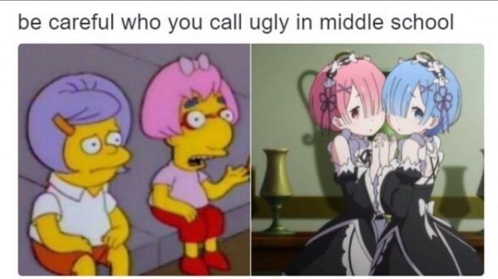 Cartoon - be careful who you call ugly in midd le school