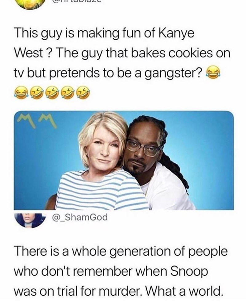 Funny meme about people who don't know that snoop dogg is a rapper., twitter.