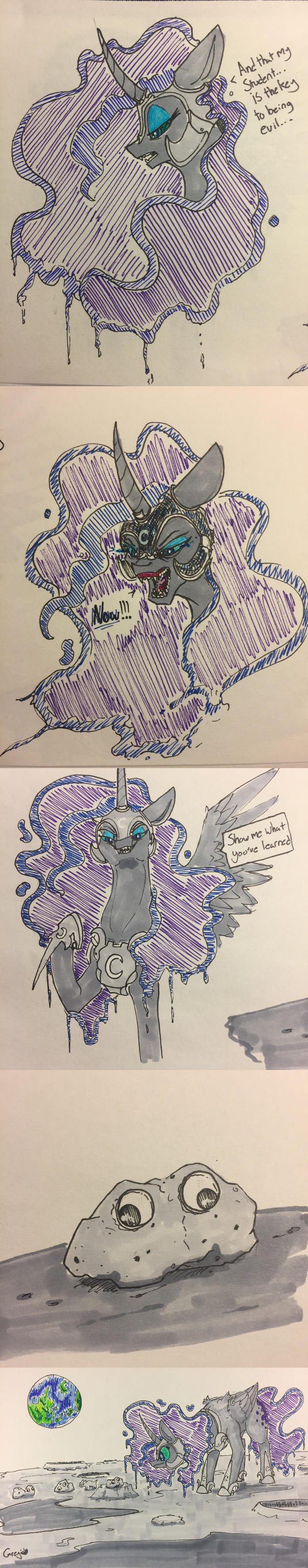 nightmare moon OC skippy the moon rock princess luna comic kevin greyscale - 9177775104